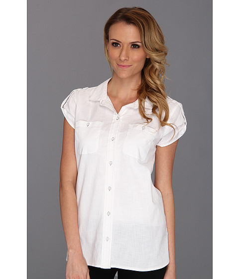 Tricouri Calvin Klein - Boyfriend Buttondown Shirt - White