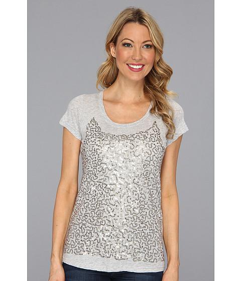 Tricouri Calvin Klein - Tissue Jersey W/Poly Silk Georgette - Pale Grey Heather