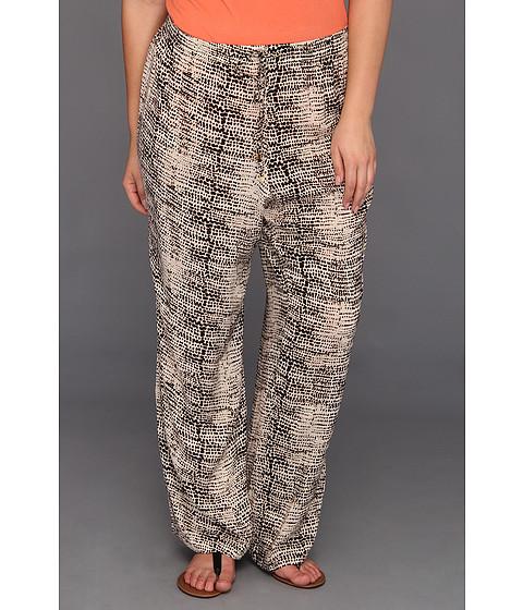 Pantaloni Calvin Klein - Plus Size Washed Pebbles Drawstring Pant - Black/Light Latte Multi