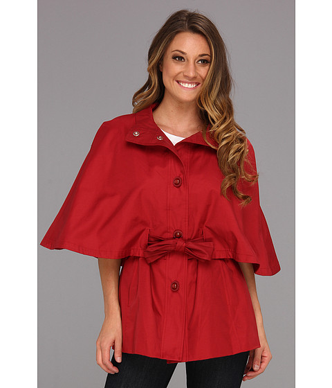 Jachete Betsey Johnson - Belted Cape Jacket - Bombshell Red