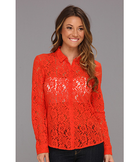 Bluze Volcom - Not So Classic Lace L/S - Electric Orange