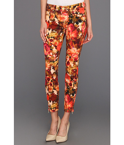 Blugi 7 For All Mankind - Cropped Skinny w/ Zips - Red English Garden