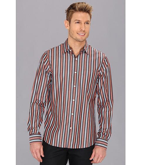 Camasi Perry Ellis - L/S Slim Ombred Blend Stripe Shirt - Rose Hip