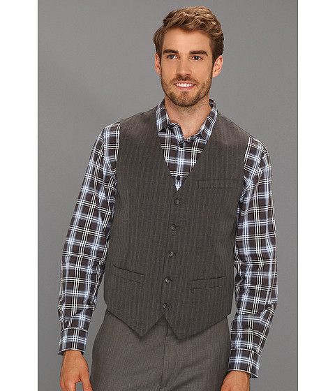 Jachete Perry Ellis - Cotton Stripe Vest - Slate
