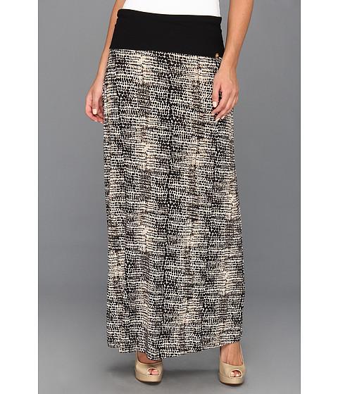 Fuste Calvin Klein - Printed Maxi Skirt - Black/Light LTE Multi