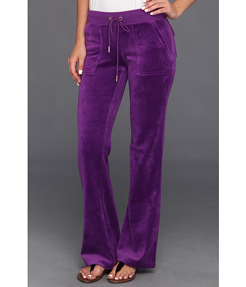 Pantaloni Juicy Couture - Velour Bling Bootcut Pant - Deep Orchid