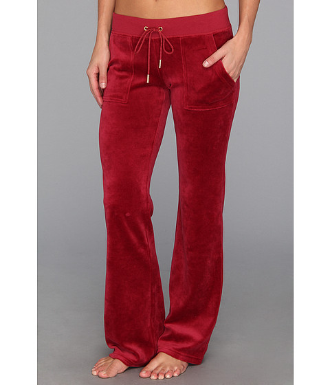 Pantaloni Juicy Couture - Velour Bling Bootcut Pant - Well-Coiffed