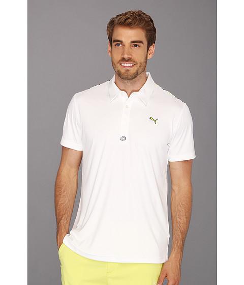 Tricouri PUMA - Yoke Graphic Tech Polo - White
