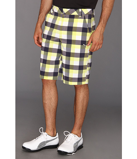 Pantaloni PUMA - Tech Checked Short - Limeade
