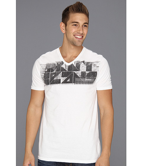 Tricouri DKNY - S/S Sky Zoom V-Neck Tee - White