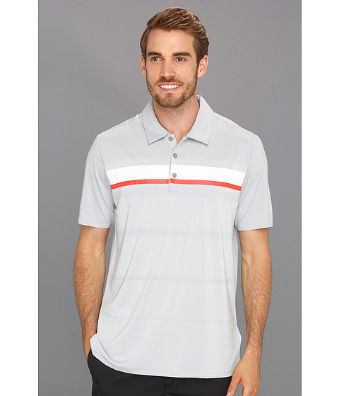 Tricouri adidas - Adizero Climacoolî Printed Stripe Polo - Chrome/White