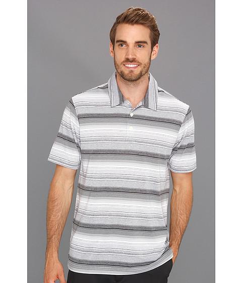 Tricouri adidas - ClimaLiteî Heathered Ombre Striped Polo - White/Black