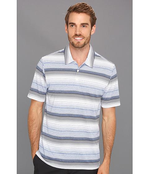 Tricouri adidas - ClimaLiteî Heathered Ombre Striped Polo - White/Navy
