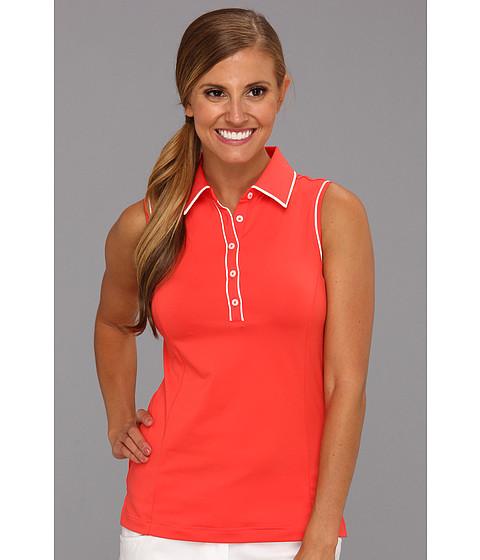 Bluze adidas - Climacoolî Sleeveless Stretch Polo - Bright Coral