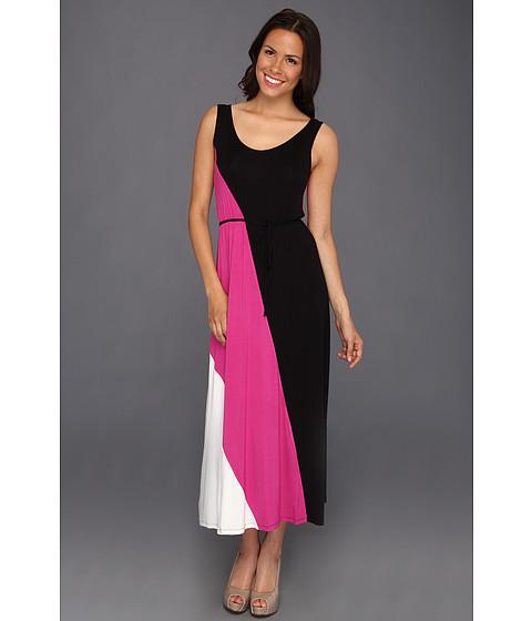 Rochii Christin Michaels - Tosha Colorblock Dress - Persian Pink Multi