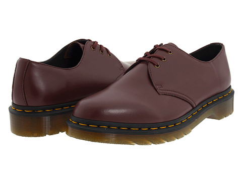 Pantofi Dr. Martens - 1461 Vegan 3-Eye Gibson - Cherry Red