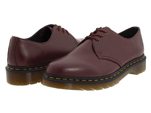 Pantofi Dr. Martens - 1461 Vegan 3-Eye Gibson - Cherry Red