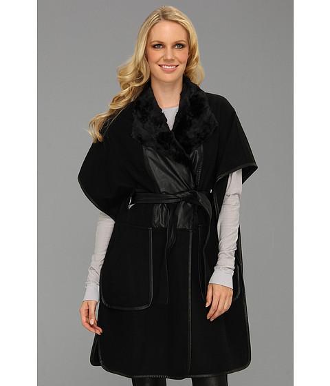 Jachete BCBGMAXAZRIA - Smyth Poncho Coat - Black