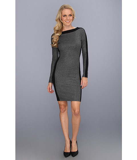 Rochii BCBGMAXAZRIA - Sage Knit Dress - Silver/Black