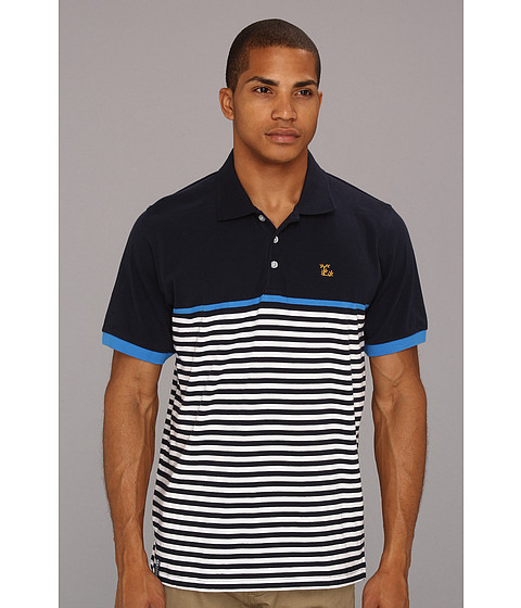 Tricouri L-R-G - Down From Earth Polo - Navy
