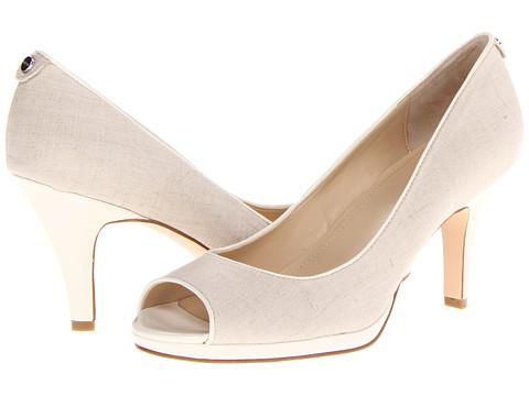 Pantofi Calvin Klein - Kail 2 - Natural Linen/White Patent