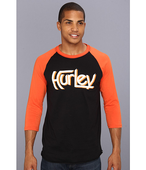 Bluze Hurley - Loyalty L/S Raglan - Black/Orange