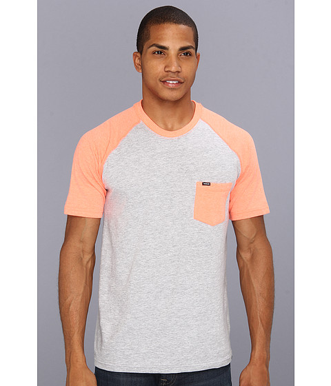 Tricouri Hurley - Premium Pocket Raglan - Heather Neon Orange