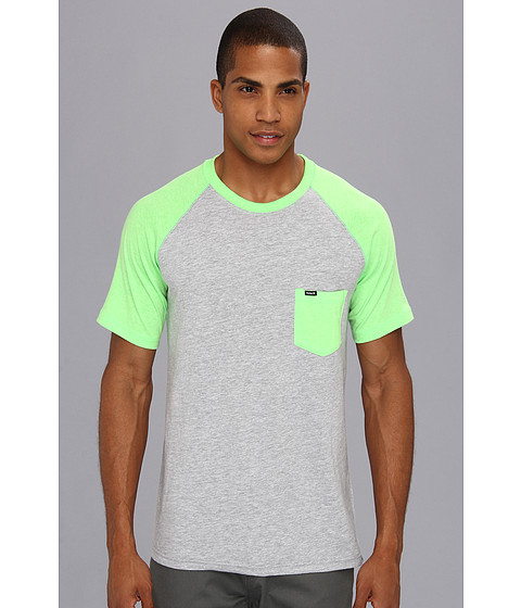 Tricouri Hurley - Premium Pocket Raglan - Heather Neon Green