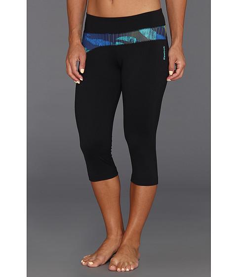 Pantaloni Reebok - Dance Wrap Capri - Black/Solar Green