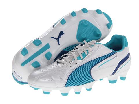 Adidasi PUMA - Spirit FG Wn\s - Metallic White/Blue Curacao