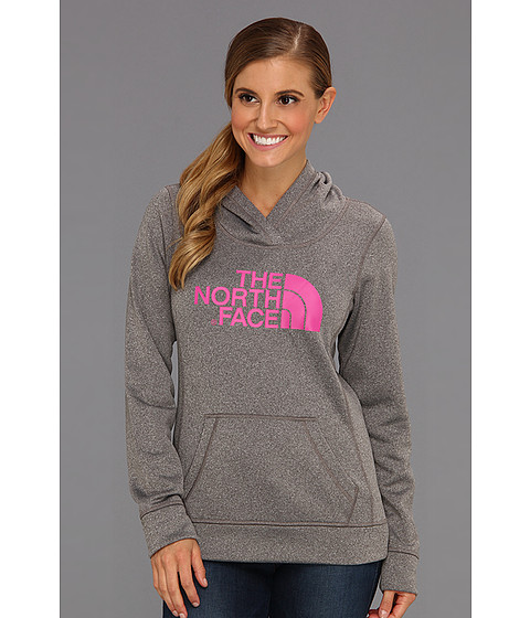 Bluze The North Face - Fave-Our-Ite Pullover Hoodie - Heather Grey/Linaria Pink