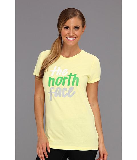Bluze The North Face - S/S Brush Strokes Tee - Chiffon Yellow/Mojito Green