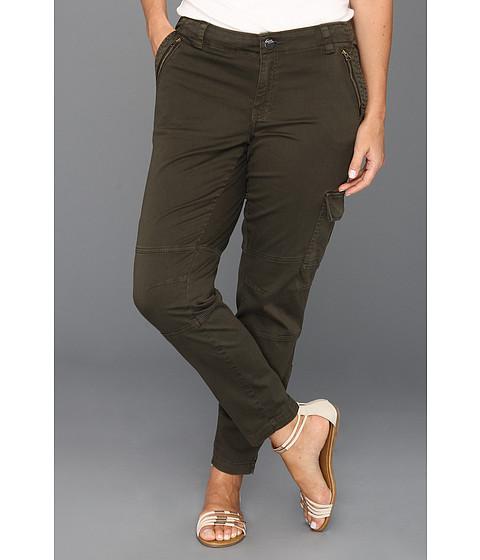 Pantaloni DKNY - Plus Size Skinny Cargo Crop in Army - Army