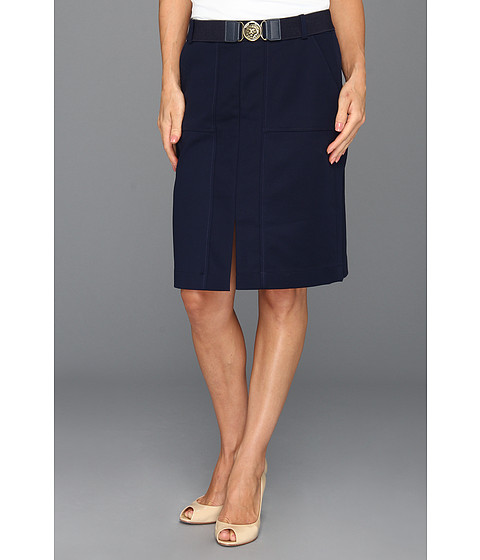Fuste Anne Klein New York - Petite Belted Skirt - Navy