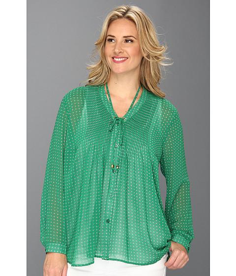Bluze MICHAEL Michael Kors - Plus Size Jive Pintuck Shirt - Gooseberry