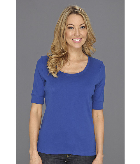 Tricouri Jones New York - 1/2 Sleeve Scoop Neck Top - Twilight Blue