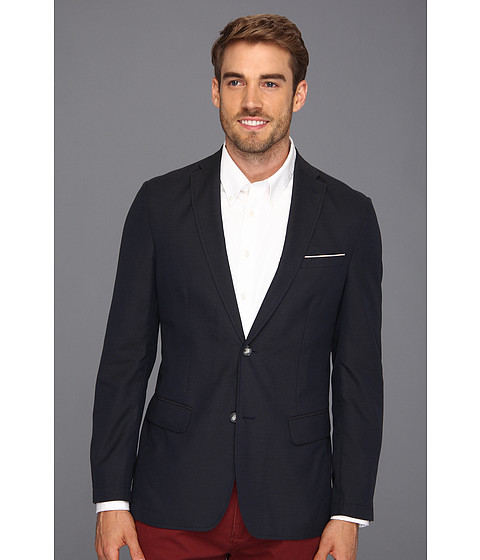 Jachete Perry Ellis - Slim Fit Broken Twill Jacket - Ink