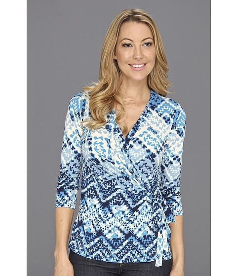 Bluze Anne Klein New York - Argyle Print Wrap Top - Capri Multi