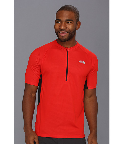 Tricouri The North Face - Captain Ten Speed Jersey - Centennial Red