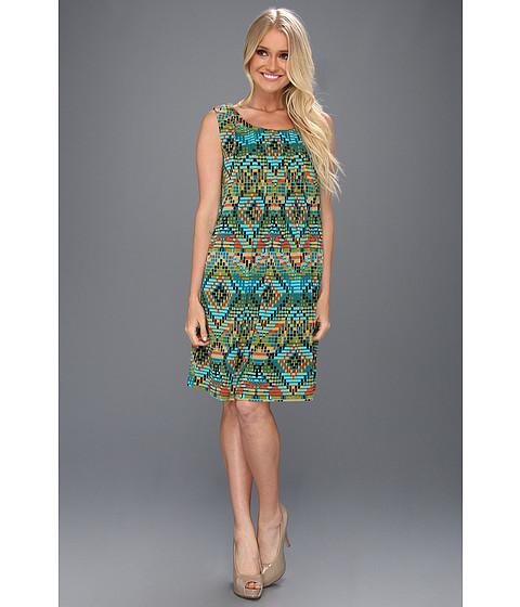 Rochii Christin Michaels - Abina Dress - Avocado/Turquoise