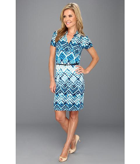 Rochii Anne Klein New York - Petite Argyle Print Dress - Capri Multi