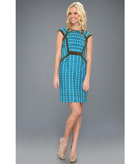 Rochii Nanette Lepore - Castille Dress - Tile Blue Multi