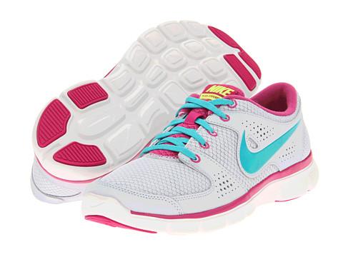 Adidasi Nike - Flex Experience Run - Pure Platinum/Fusion Pink/Volt/Sport Turquoise