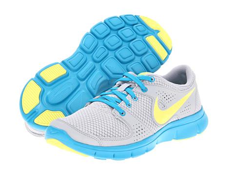 Adidasi Nike - Flex Experience Run - Wolf Grey/Digital Pink/Neo Turquoise/Metallic Silver