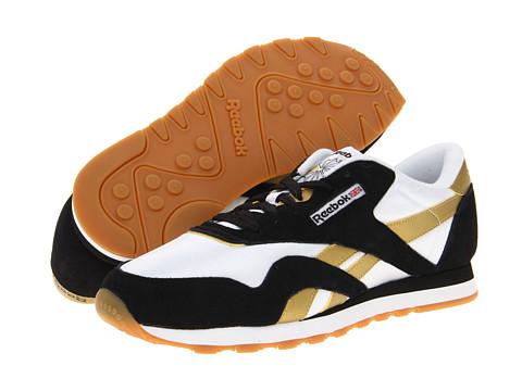 Adidasi Reebok - Classic Nylon R13 - Black/White/True Gold