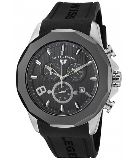 Ceasuri Swiss Legend - Swiss Legend Watch 10042-014-gmb Mens Monte Carlo Chronograph Dark Grey - Multicolor