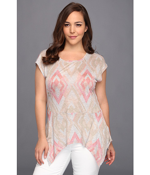 Tricouri DKNY - Plus Size Diamond Geo Print Top - Peachy