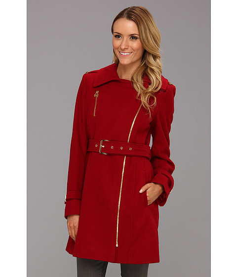 Jachete MICHAEL Michael Kors - Cassandra Belted Trench M12591A - Red