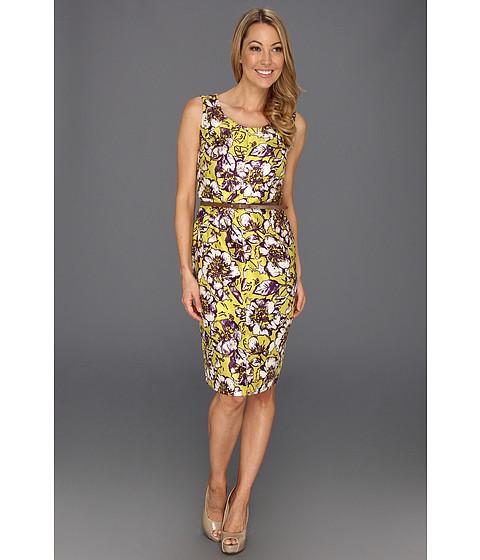 Rochii Jones New York - S/S Belted Dress - Chartreuse