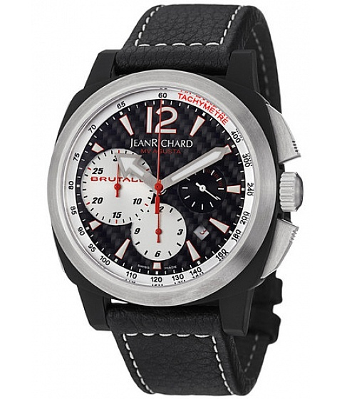 Ceasuri Jean Richard - Jean Richard Watch 65120-28-61a-ae6d Mens Chronoscope Chronograph Black Carbon - Multicolor